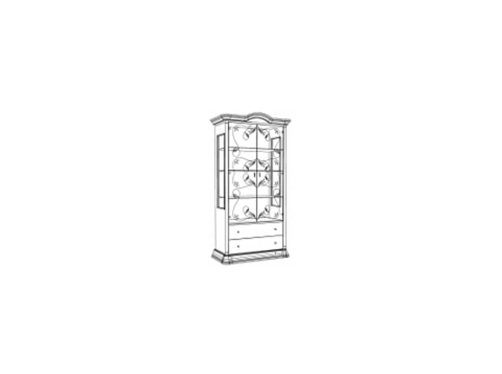 Витрины для гостиных: Витрина 2-дверная Роза в Стильная мебель