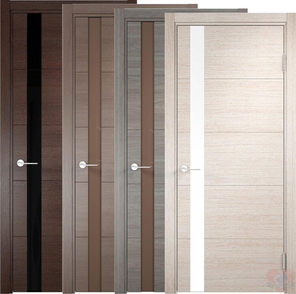 Двери Верда: Дверь межкомнатная Турин 03 Эко шпон  с Алюминиевой кромкой в Салон дверей Доминго Ноябрьск