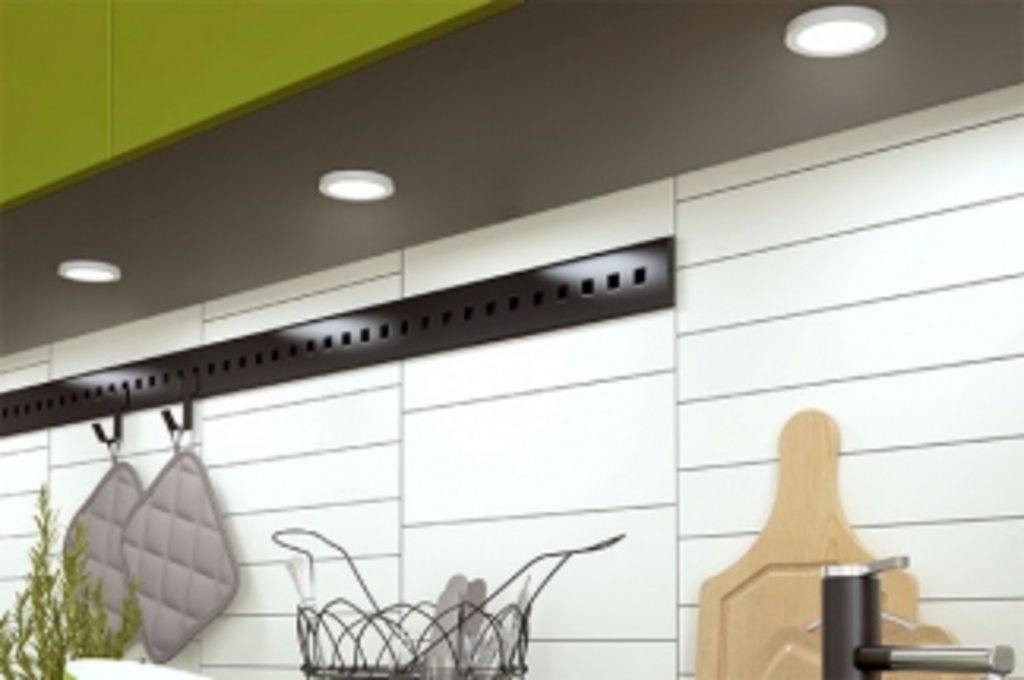 """Мебельная фурнитура """"НОВИНКИ"""": Комплект из 1-го светильника Led Matrix R, 2W/24V, 4000К, отделка серый в МебельСтрой"""