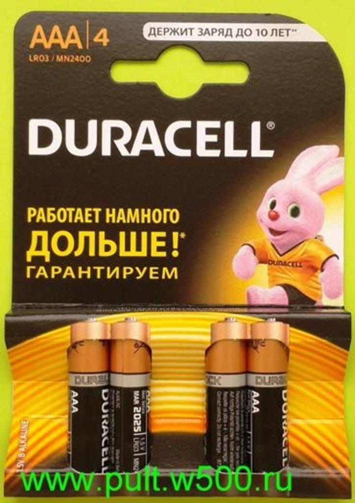 Батарейки.: Батарея LR03, AAA  DURACELL  MN2400 (4BL) в A-Центр Пульты ДУ