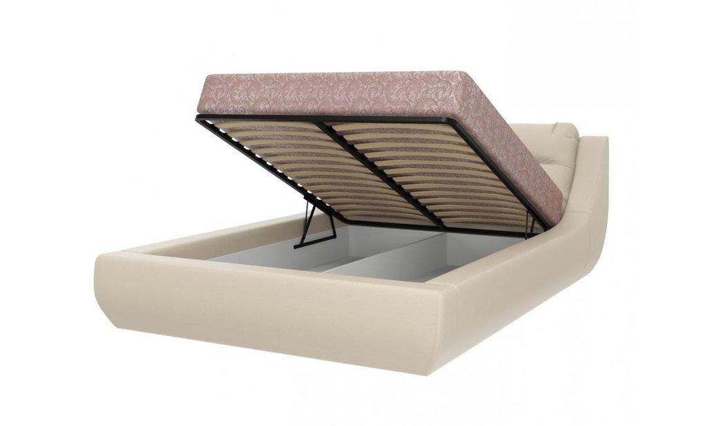 Кровати: Кровать двойная из экокожи Мишель в Уютный дом