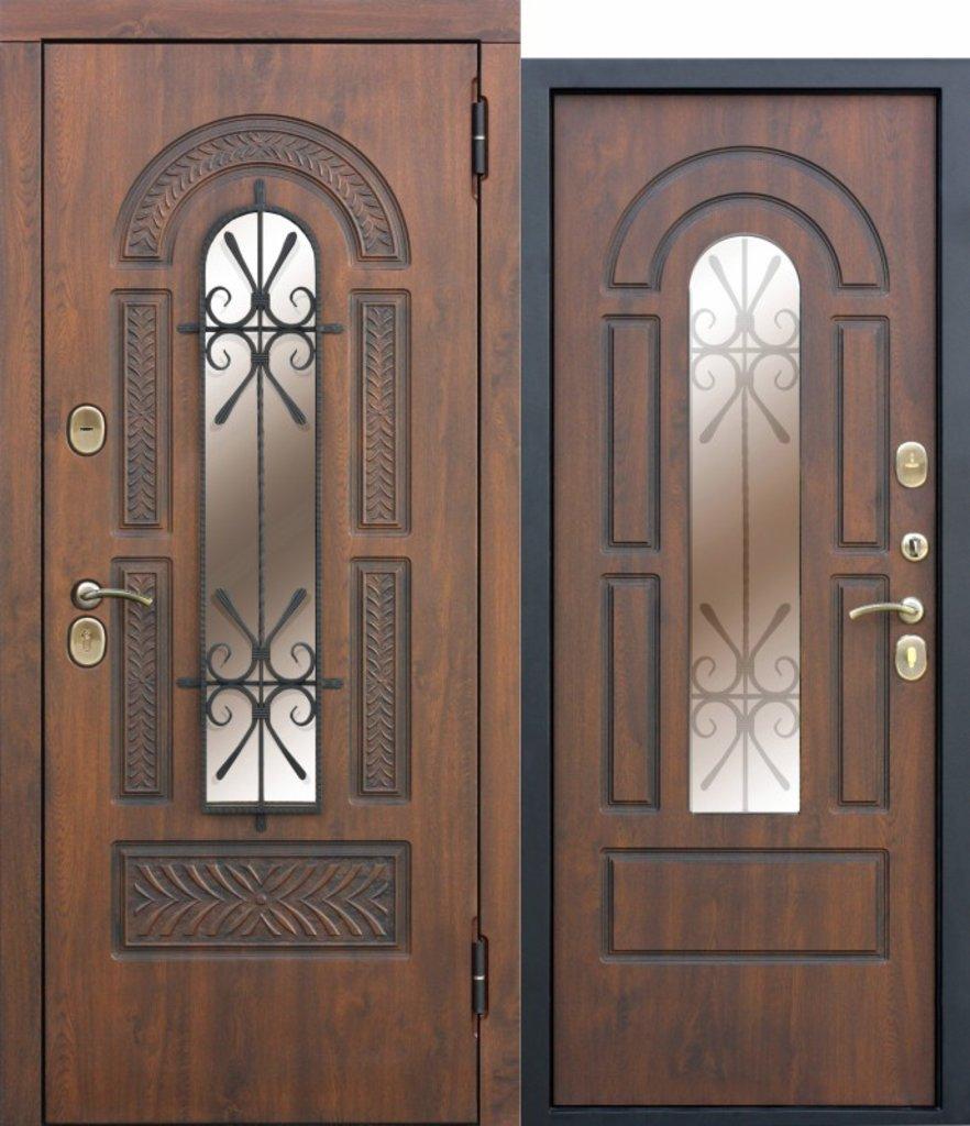 Двери завода Феррони: Vikont со стеклопакетом и ковкой в Модуль Плюс