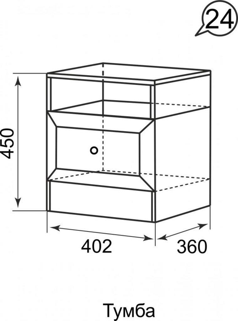 Прикроватные тумбочки: Тумба прикроватная 24 Брайтон в Стильная мебель