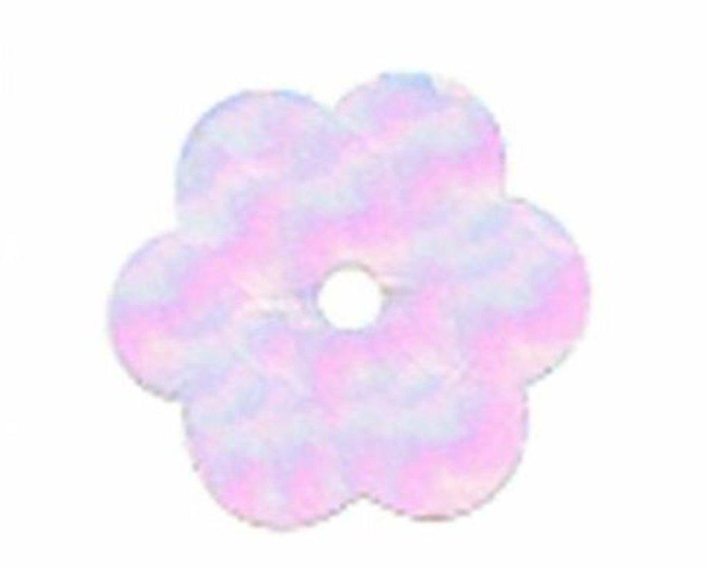 "Цветочки 10мм.: Пайетки""Цветочки""10мм.,упак/10гр.Астра(цвет:319 св.розовый перламутр) в Редиант-НК"