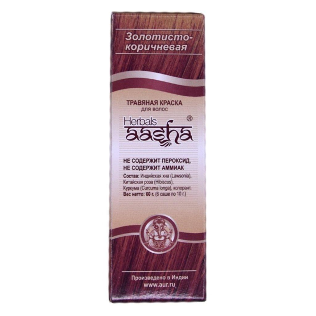 Средства для волос: Травяная краска для волос - Золотисто-коричневая (Herbals Aasha) в Шамбала, индийская лавка