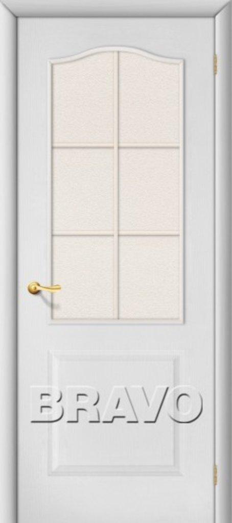 Двери ламинированные BRAVO: Палитра Л-23 (Белый) в STEKLOMASTER