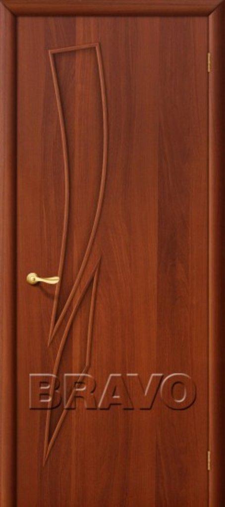 Двери ламинированные BRAVO: 8Г Л-11 (ИталОрех) в STEKLOMASTER