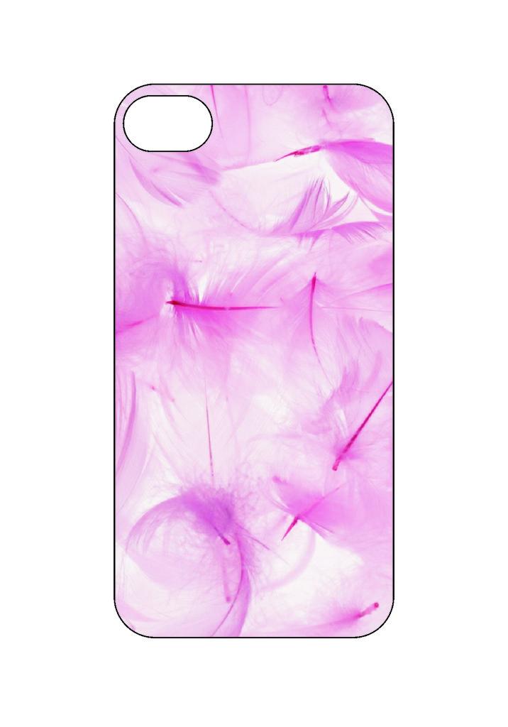 Выбери готовый дизайн для своей модели телефона: Розовые перья в NeoPlastic
