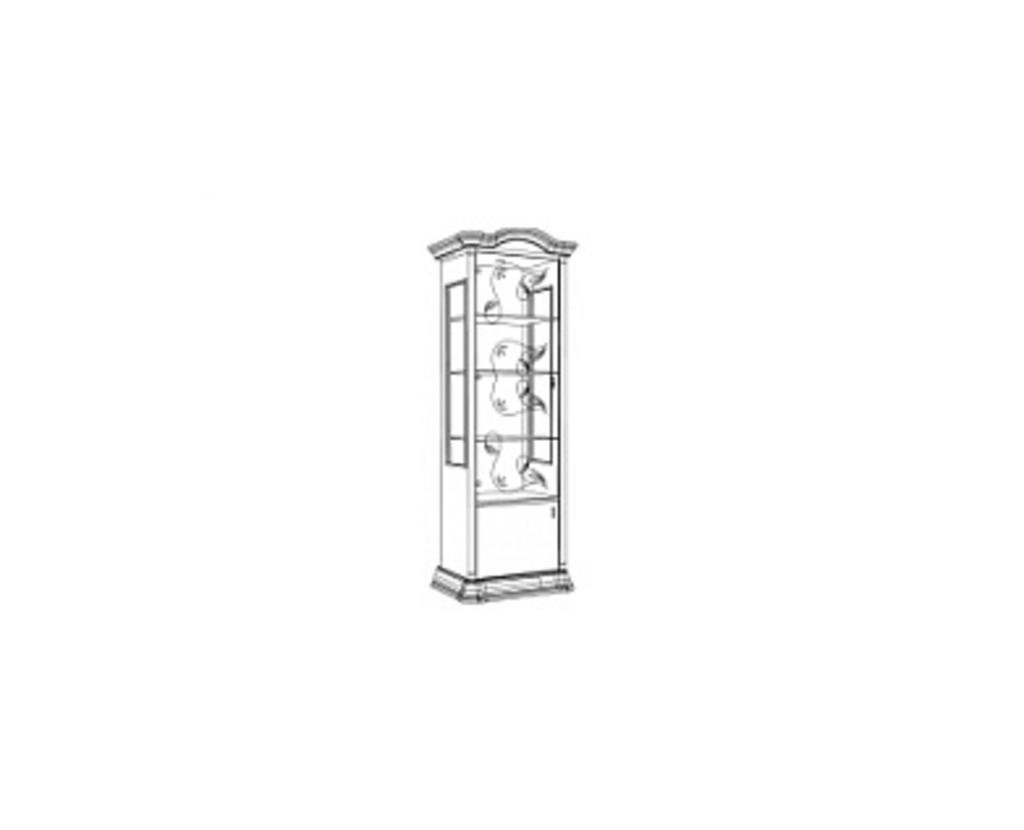 Витрины для гостиных: Витрина 1-дверная левая Роза в Стильная мебель