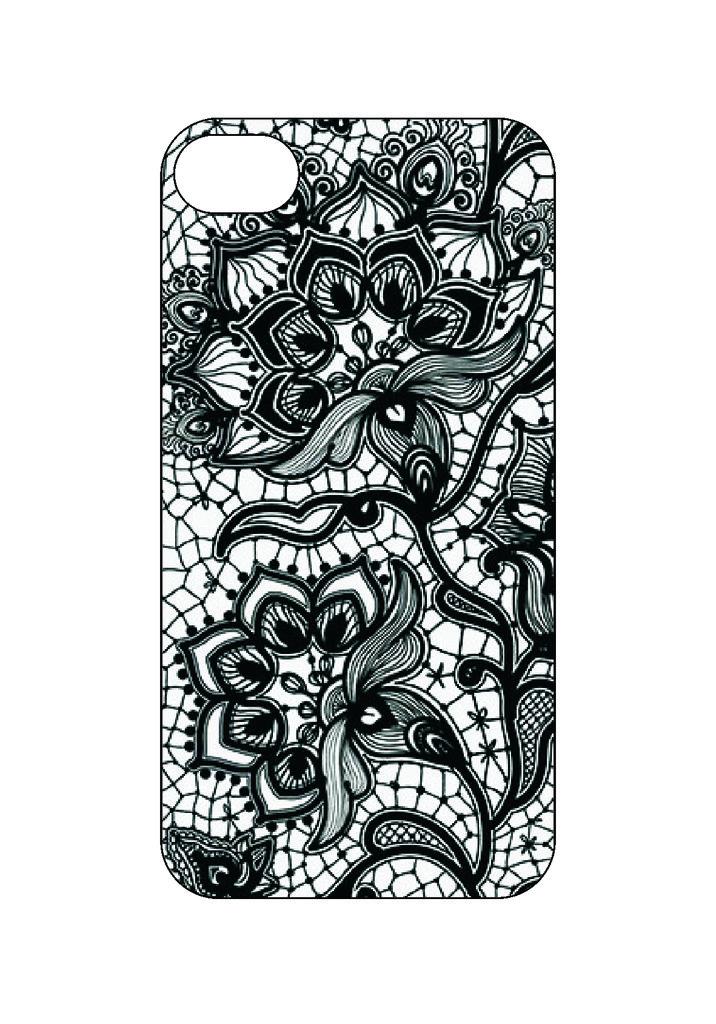 Выбери готовый дизайн для своей модели телефона: Кружево в NeoPlastic