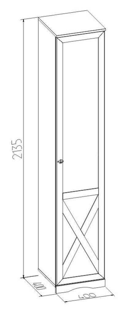 Детские шкафы и стеллажи: Шкаф для белья ADELE 83 (ФАСАД Правый) в Стильная мебель
