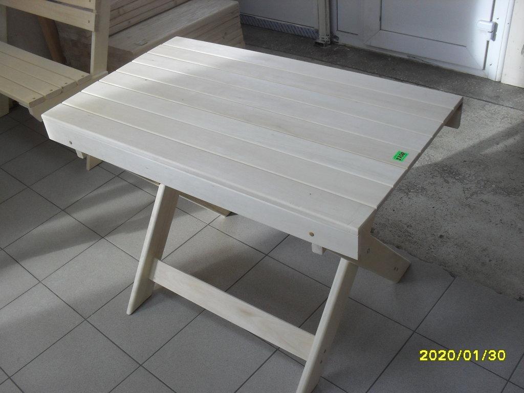 Мебель для саун и бань: Стол раскладной (липа) 100х60 см в Погонаж