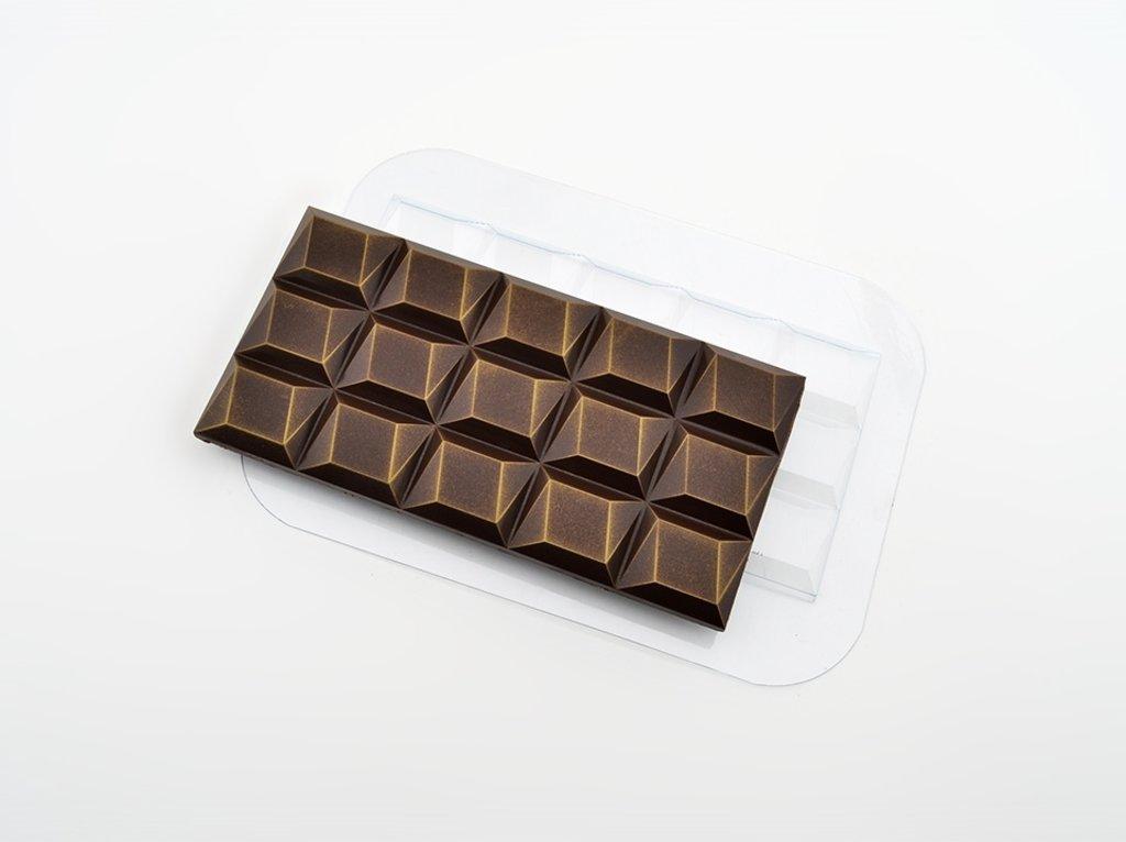 Пластиковые формы для шоколада: Форма для шоколада Плитка Параллело в ТортExpress