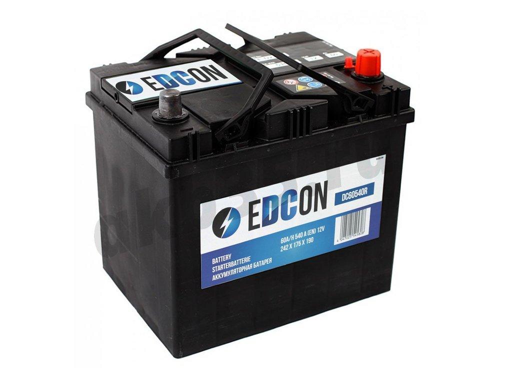 Аккумуляторы: EDCON 60 А/ч Обратный Азия (DC60510R) в Планета АКБ