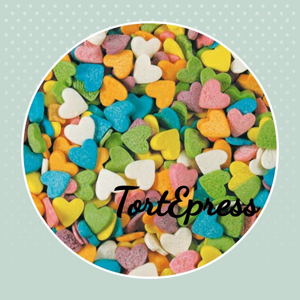 """Украшения, декор: Посыпка сахарная """"Сердечки разноцветные"""" 750г в ТортExpress"""