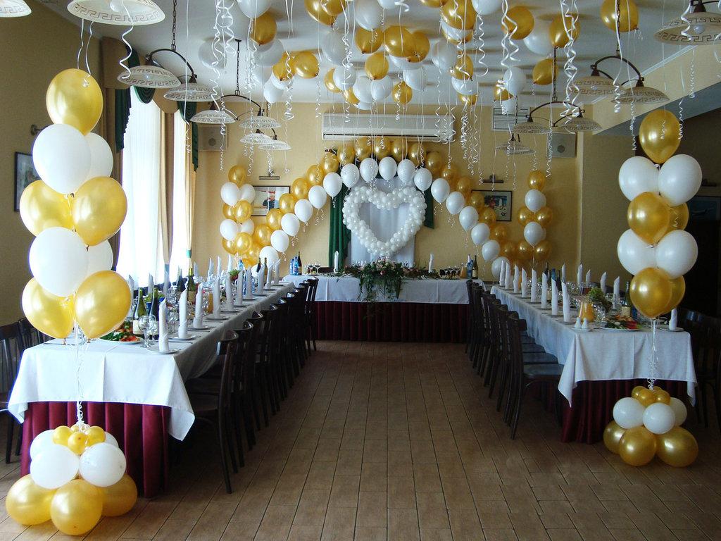 Организация праздников: Украшение зала в Небо в Алмазах, Воздушные шары, Пиротехника, Фейерверк