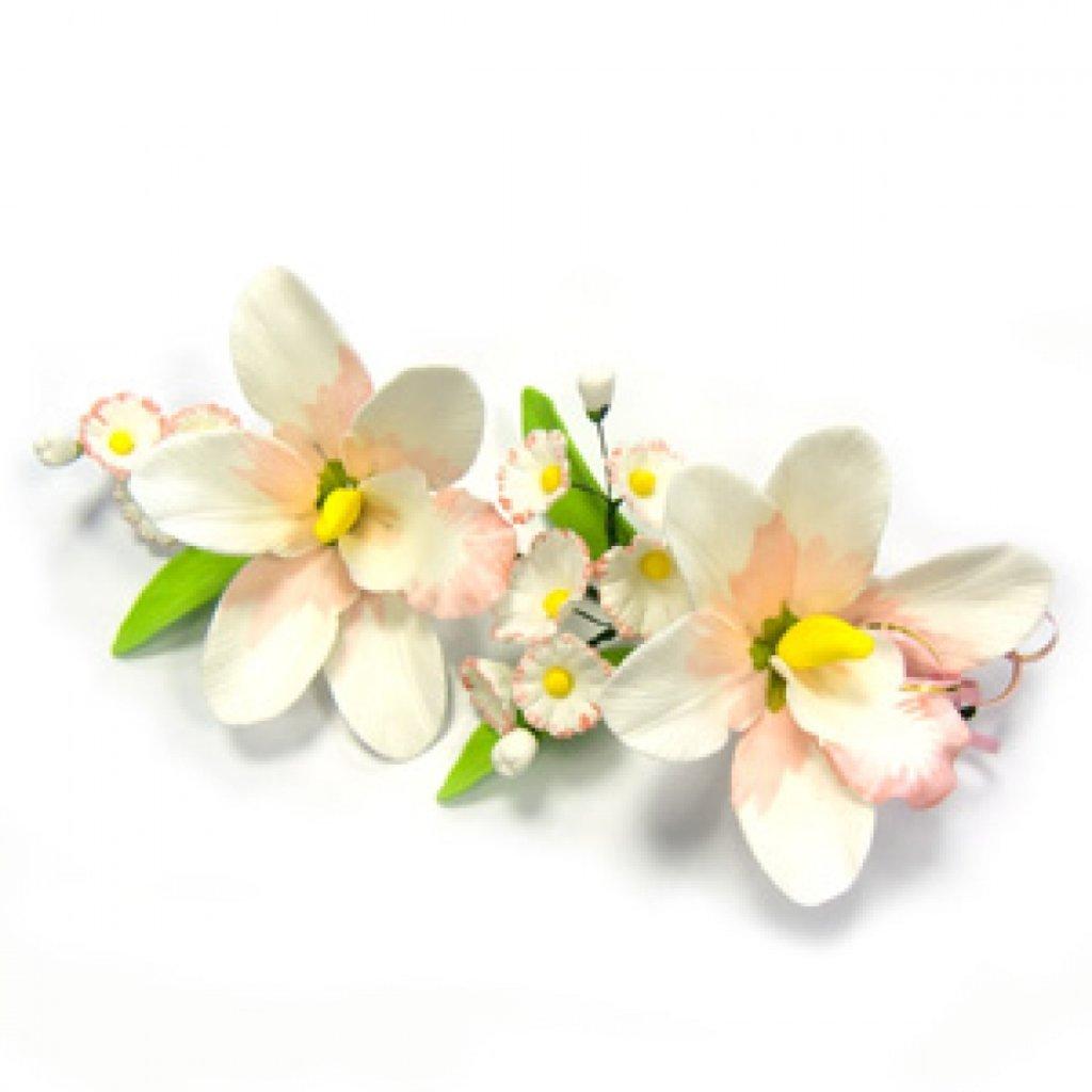 Сахарные украшения: Букет  сахарный Орхидея в ТортExpress