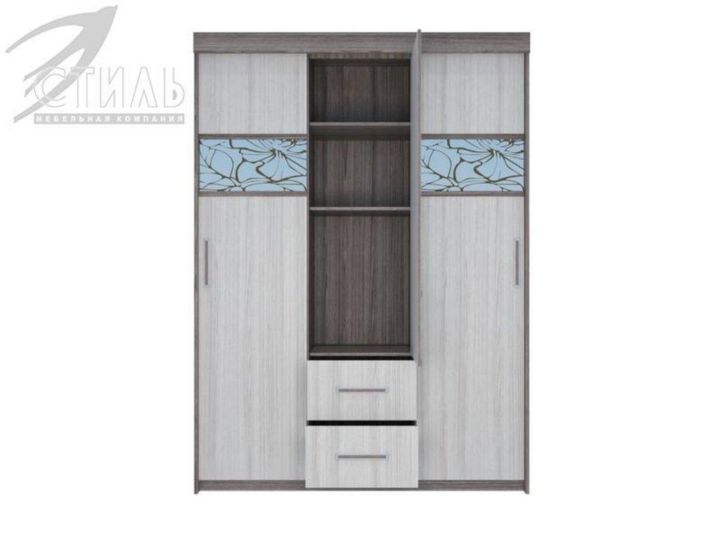Шкафы: Шкаф-купе Комфорт-7 (Ясень шимо темный / Ясень шимо светлый) в Диван Плюс