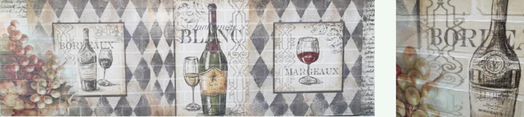 Фартуки ЛакКом 6 мм. с тиснением: Белое вино / тиснение кирпич в Ателье мебели Формат