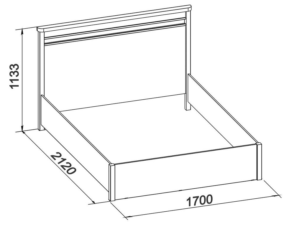 Кровати: Кровать Бриз 32 (1600, орт. осн. дерево) в Стильная мебель