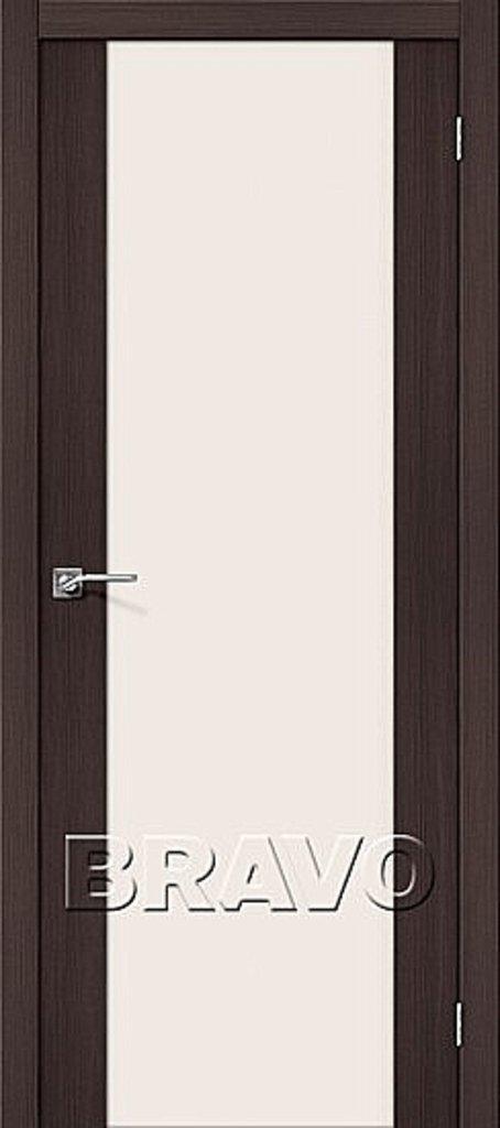 Двери экошпон BRAVO: Порта-13 Wenge Veralinga в STEKLOMASTER