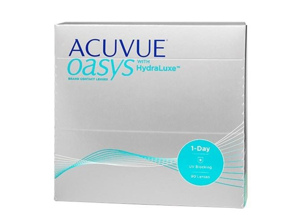 Контактные линзы: Контактные линзы 1-Day ACUVUE Oasys with Hydraluxe (90шт / 9.0) Johnson & Johnson в Лорнет