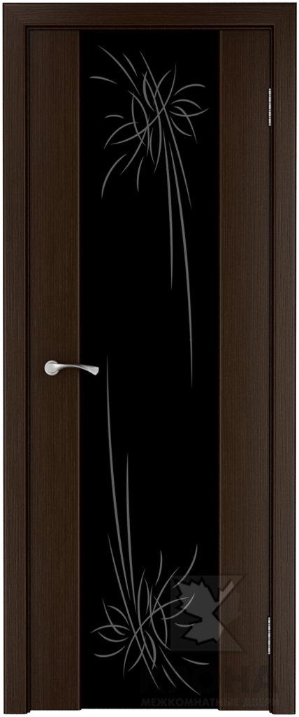 Двери Крона от 3 650 руб.: Фабрика Крона. Серия триплекс. Модель Лаура с широким стеклом в Двери в Тюмени, межкомнатные двери, входные двери