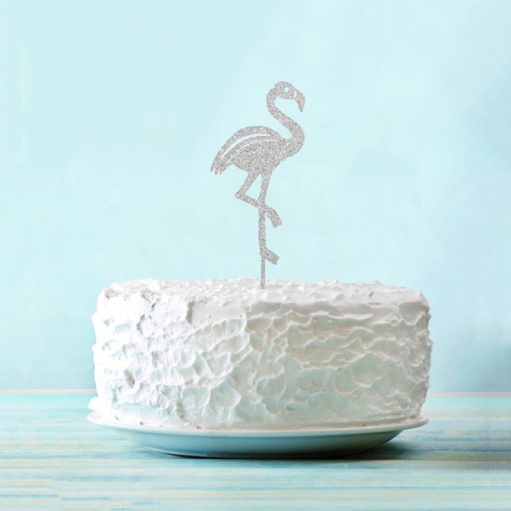 "Топперы: Топпер ""Фламинго"" цвет серебро в ТортExpress"