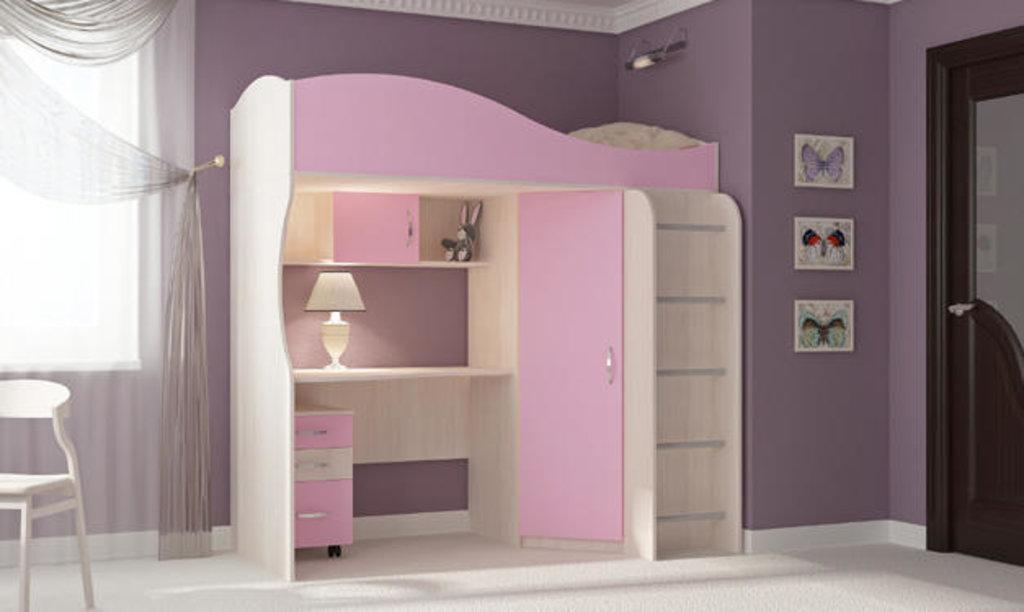 Мебель для детской Буратино. Модульная серия.: Кровать-чердак Буратино в Уютный дом