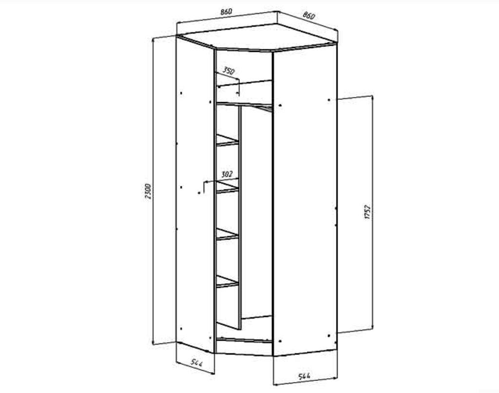 Шкафы для спальни: Шкаф угловой Венеция в Стильная мебель