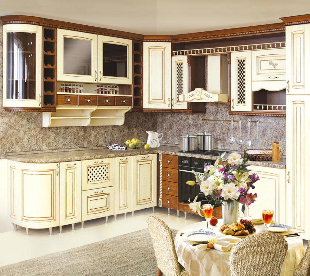 Кухни: Кухня из массива Ясеня Т511-112 в Стильная мебель