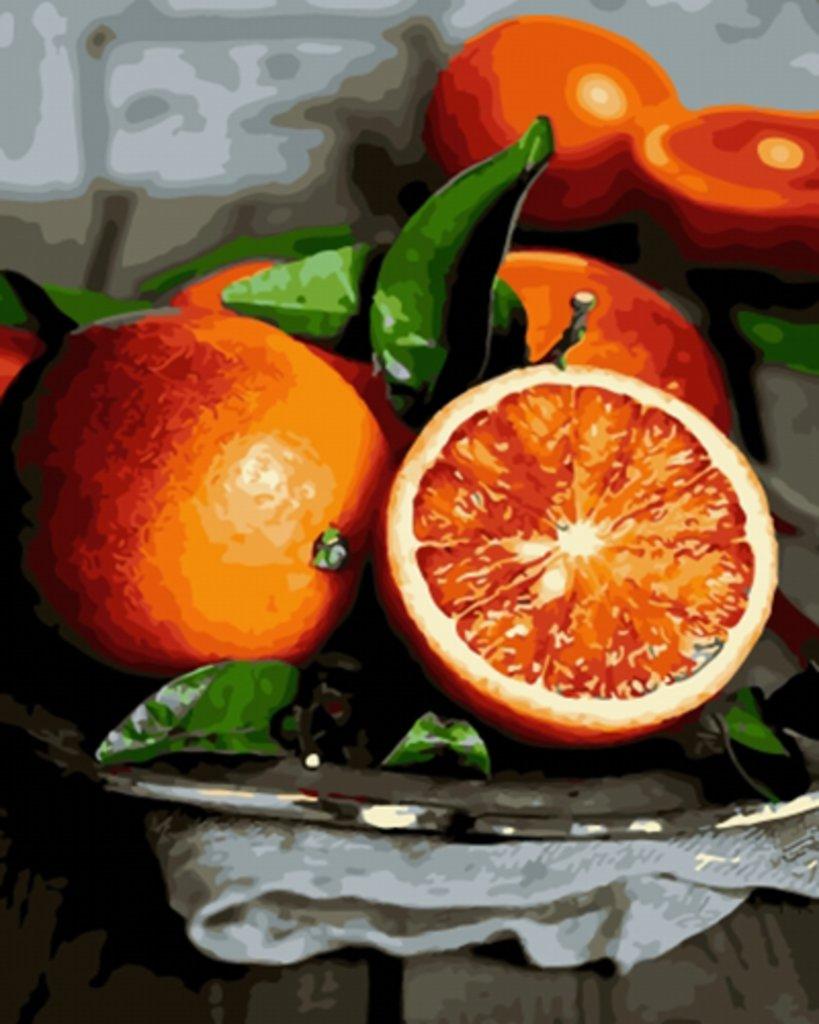 Картины по номерам: Картина по номерам Paintboy 40*50 Апельсины Эксклюзив! GX10076 в Шедевр, художественный салон