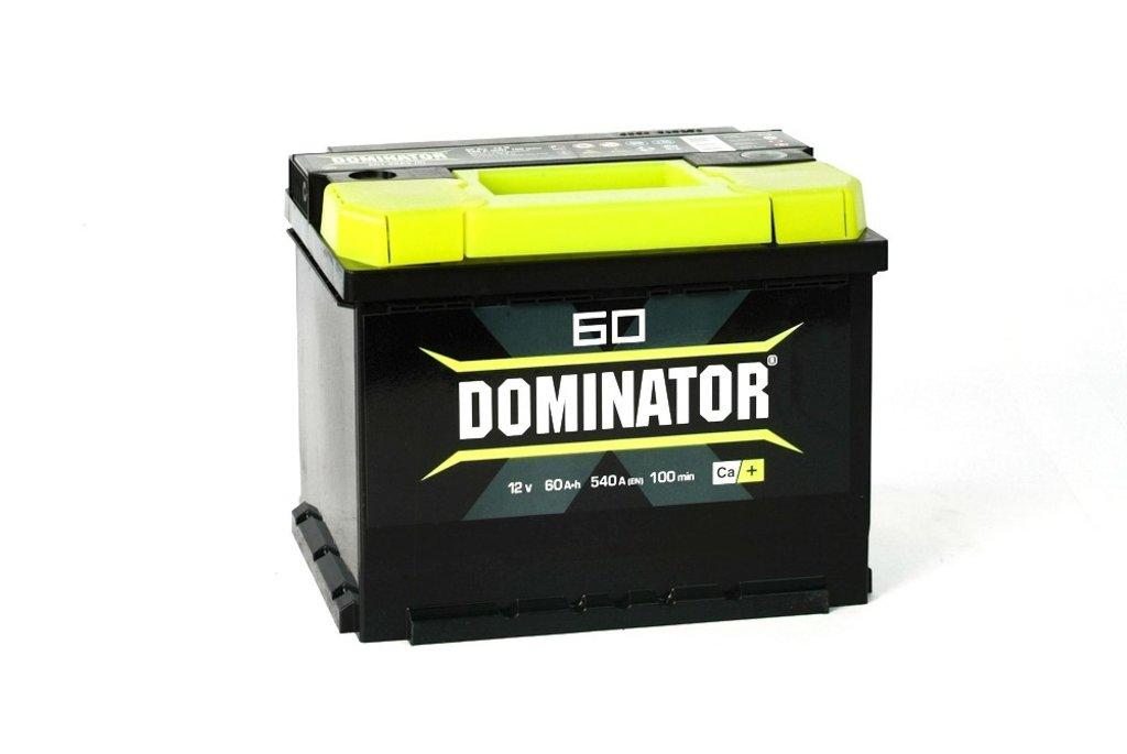 Dominator: Аккумулятор Dominator 60 А/ч в БазаАКБ
