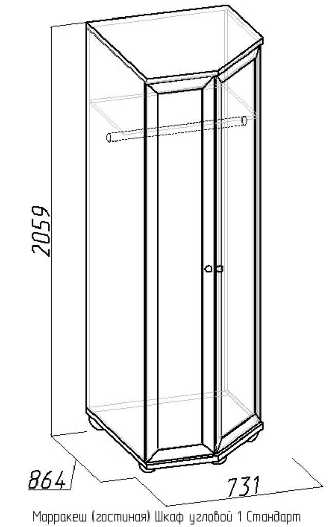 Шкафы, общие: Шкаф угловой 1 Стандарт Марракеш в Стильная мебель