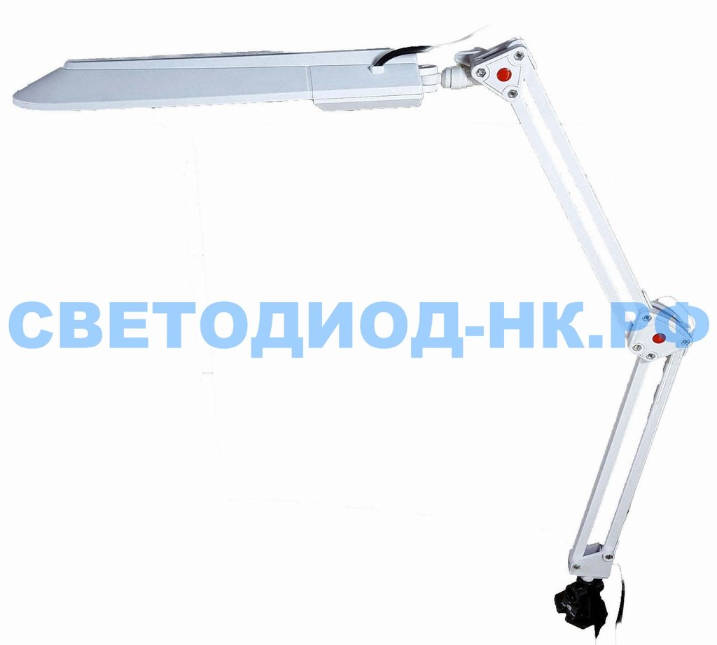 Настольные лампы, ночники: Лампа настольная Уютель UT-017С G23 8W, белая, светодиодная, на струбцине в СВЕТОВОД