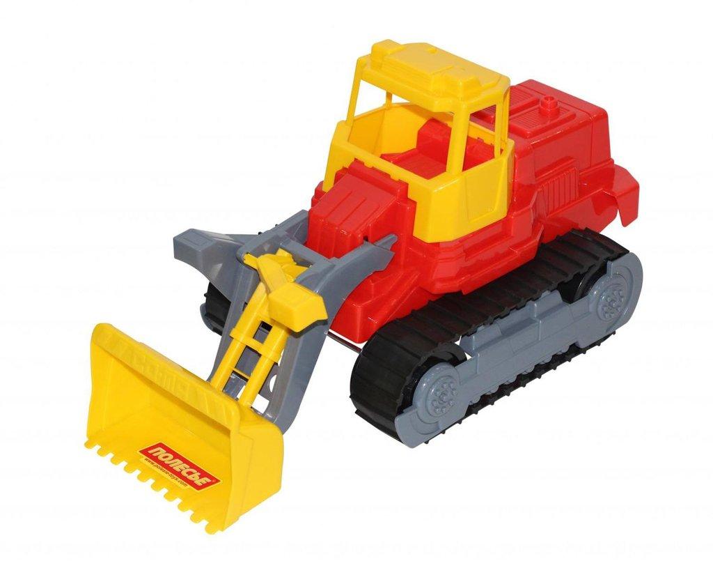 Игрушки для мальчиков: Трактор погрузчик гусеничный ПОЛЕСЬЕ в Игрушки Сити