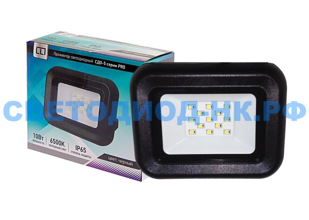 Светодиодные прожекторы: Прожектор светодиодный СДО-5-10 серии PRO 10Вт 230В 6500К 950Лм IP65 LLT в СВЕТОВОД
