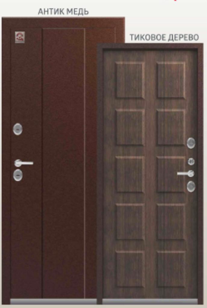 Двери Центурион: Центурион Т4 Антик Медь\Тиковое дерево в Модуль Плюс