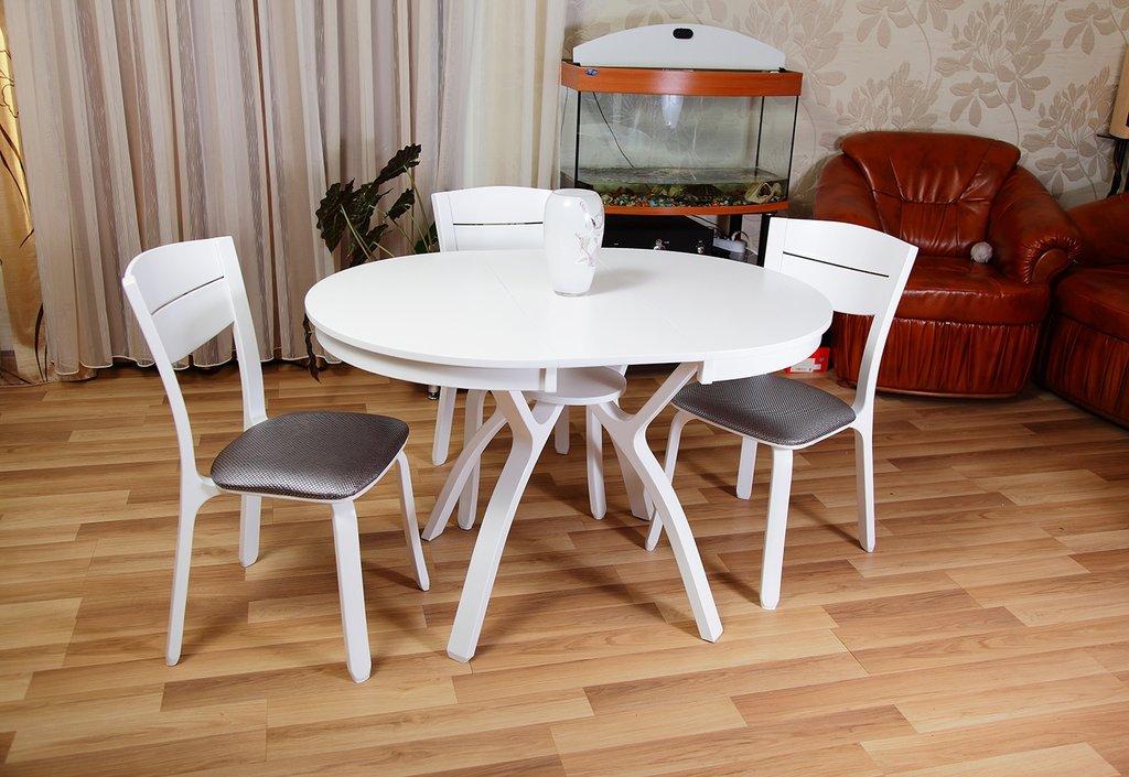 Столы деревянные: Стол Мадрид К 1000 раскладной. в АРТ-МЕБЕЛЬ НН