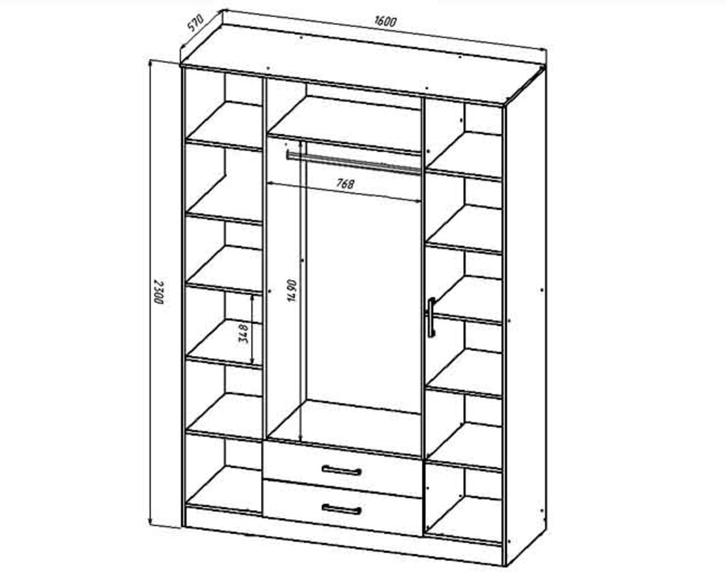Шкафы для спальни: Шкаф 4-х створчатый Венеция в Стильная мебель