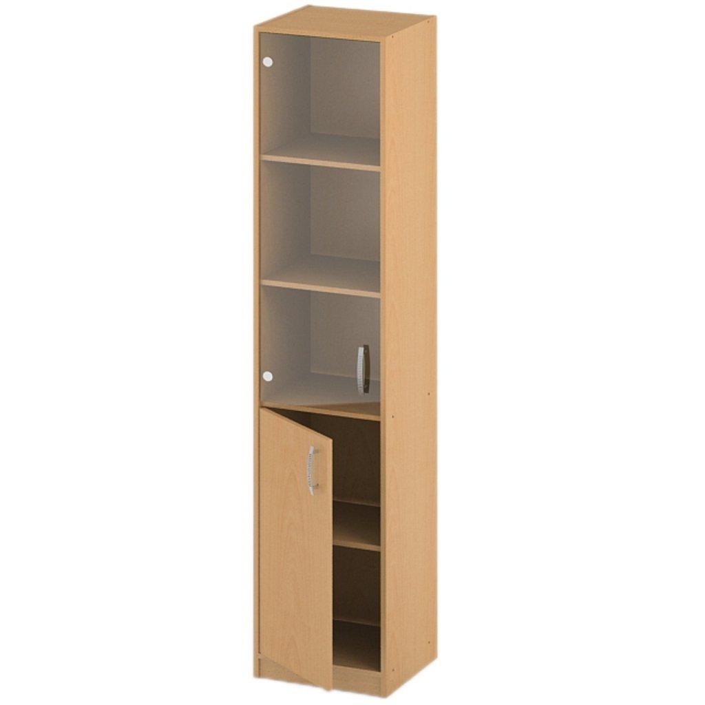 Офисная мебель пеналы, шкафы Р-16: Пенал стекло прозрачное (16) 1840*360*380 в АРТ-МЕБЕЛЬ НН