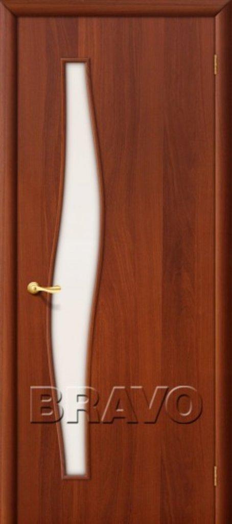 Двери ламинированные BRAVO: 6С Л-11 (ИталОрех) в STEKLOMASTER