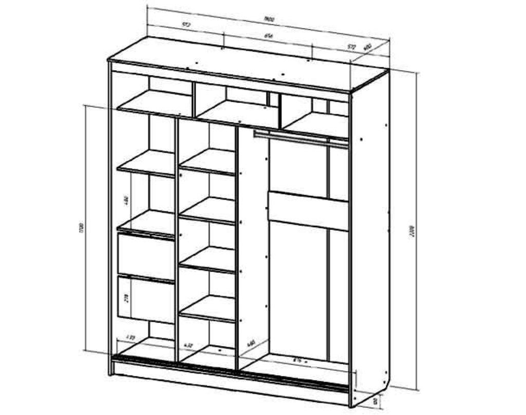 Мебель для спальни Верона. Модульная серия.: Шкаф-купе 1800 Верона в Уютный дом