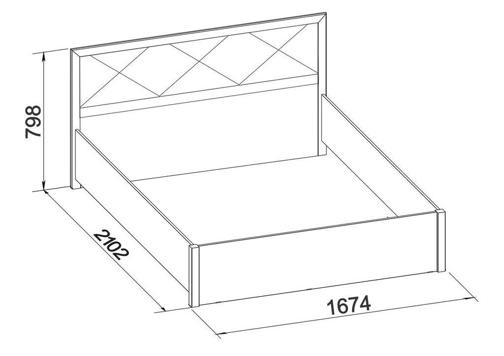 Кровати: Кровать Марсель 32 (1600, орт. осн. дерево) в Стильная мебель