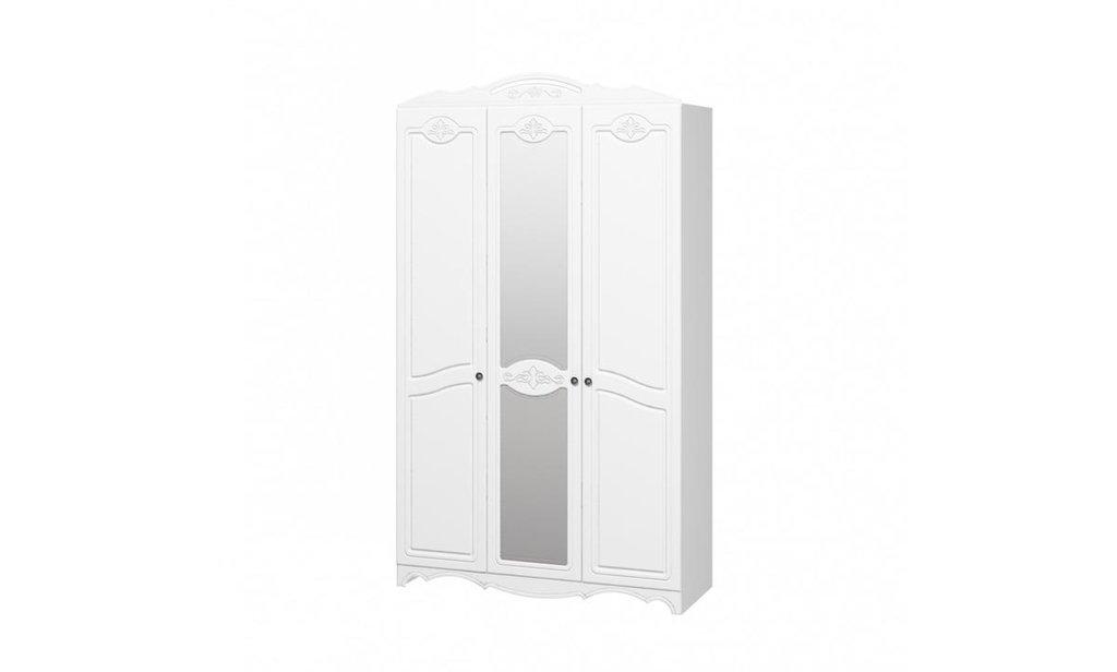 Спальный гарнитур Лотос: Шкаф ШР-3 Лотос, платье и бельё, 1 зеркало в Уютный дом