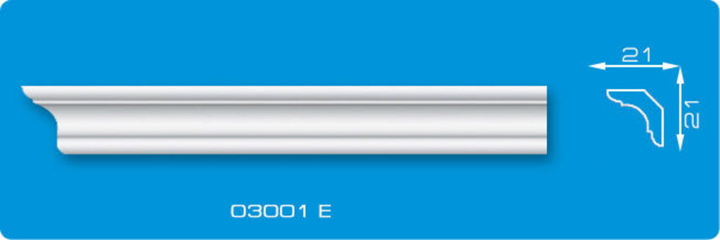 Плинтуса потолочные: Плинтус потолочный ФОРМАТ 03001 Е экструзионный длина 2м в Мир Потолков