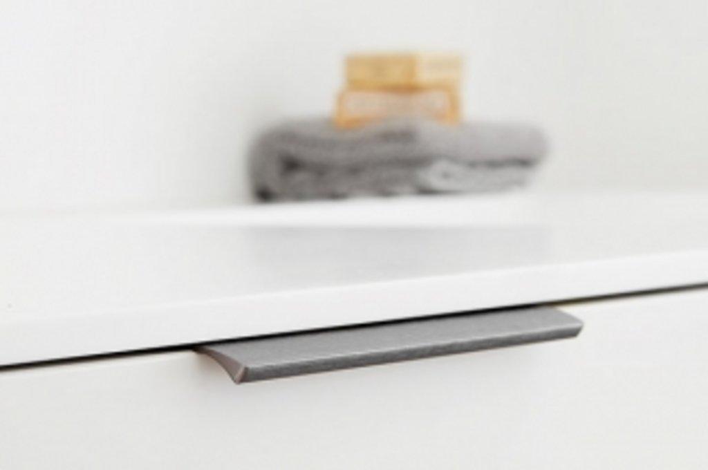 """Мебельная фурнитура """"НОВИНКИ"""": Ручка-скоба L.200мм, отделка антрацит шлифованный в МебельСтрой"""