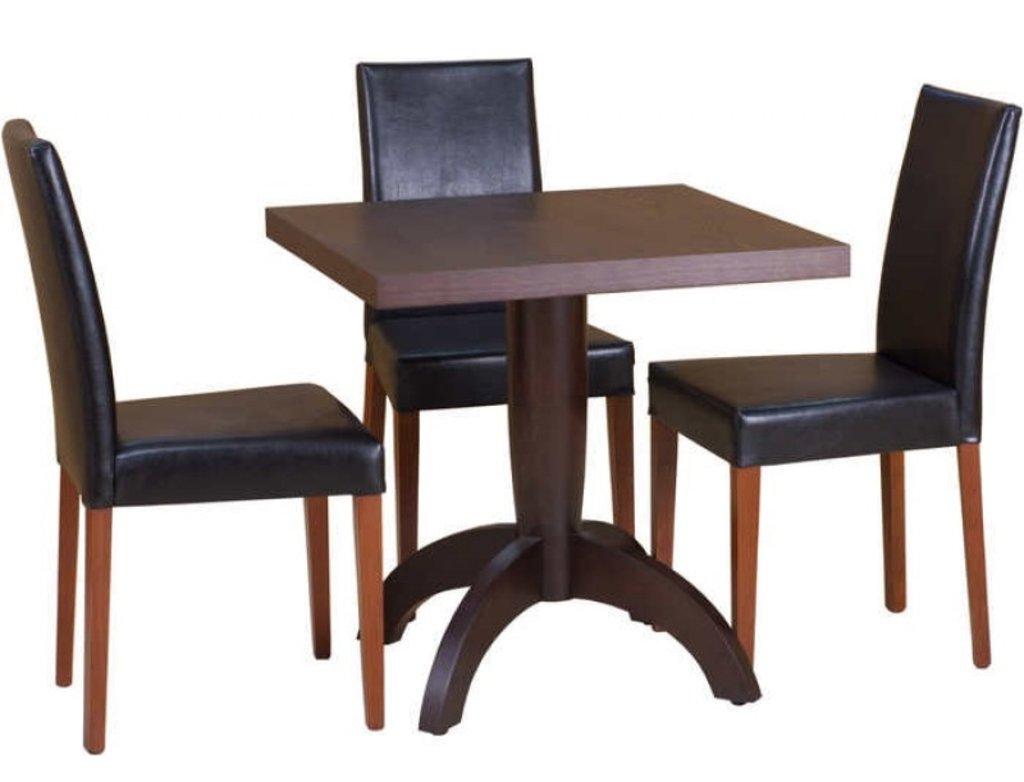 Столы для ресторана, бара, кафе, столовых.: Стол Viks-3 квадратный 750х750 (шпон) в АРТ-МЕБЕЛЬ НН