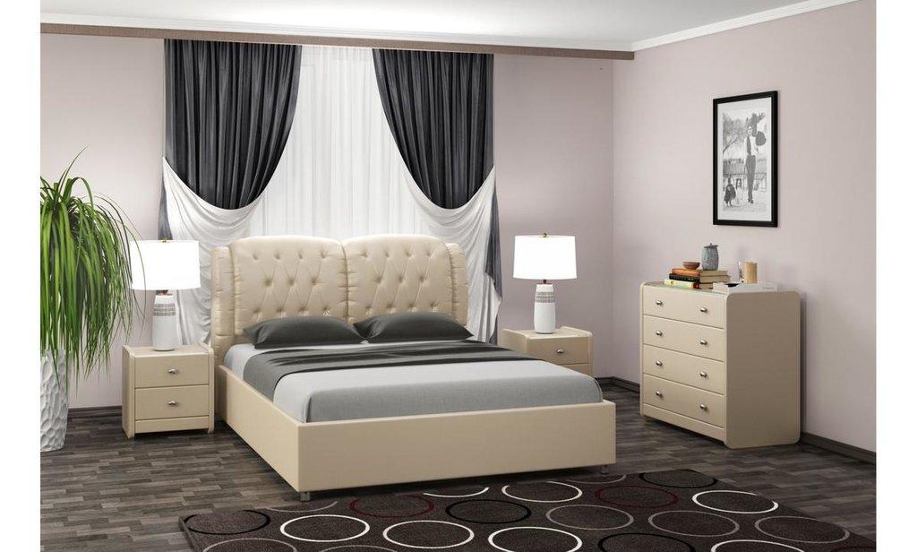 Кровати: Кровать двойная из экокожи Монако в Уютный дом