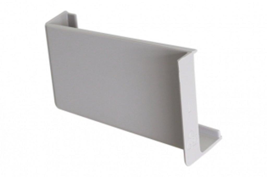 Подвеска полок: Крышечка декоративная для подвески арт.806 серая, левая в МебельСтрой